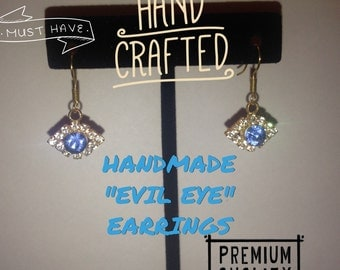 "Handmade ""Evil Eye"" Earrings"