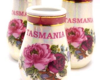 Tasmania Salt Pepper Toothpick Souvenir Salt and Pepper Shakers Vintage