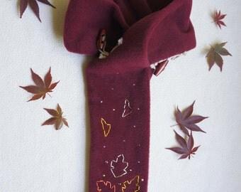 FESTIVAL SCARF (Burgundy - Autumn Leaves)