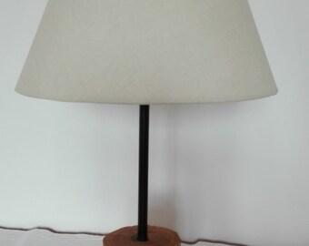lamp in cherrywood handpainted