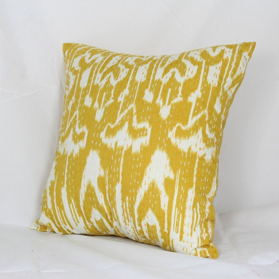 Decorative Quilted Pillow Covers : decorative cushion cover Indian quilted kantha cushion 16x16