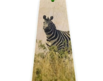 Wood bookmark - Wooden bookmark - Animal bookmark - Zebra bookmark - Zebra - Africa bookmark - Handmade bookmark - Unique bookmark