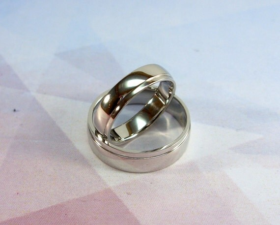 White gold wedding bands Cheap wedding rings by WeddingRingsStore