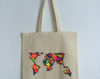 Canvas tote bag - World