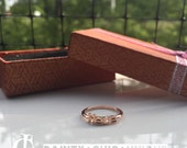 Here red gold ring, 14k red gold ring, traveling ring, instagramer ring, unique ring / free shipping