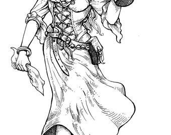 Anra - Illustration for the Pathfinder Adventure Path Novella