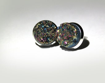 GORGEOUS RAINBOW DRUZY Earrings (no.4)