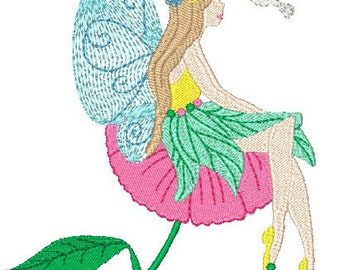 Beautiful Fairies  ( 10 Machine Embroidery Designs from ATW ) XYZ16M