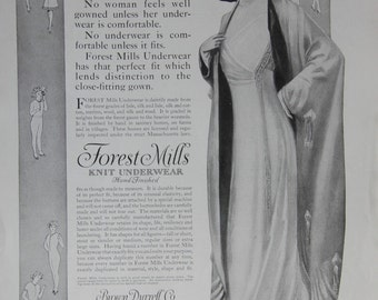 1910 Ladies Home Journal Forest Mills Knit Underware Ad Edwardian Clothes
