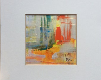 Heatwave Acrylic painting 9cm x 9cm - set of 3