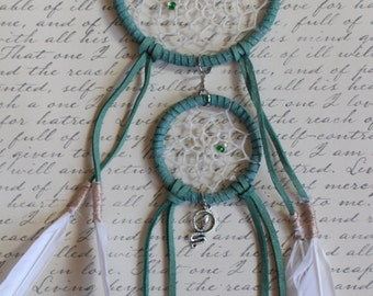 Two ring Slytherin Dream Catcher