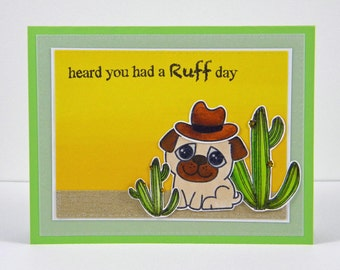Ruff Day in the Desert Greeting Card