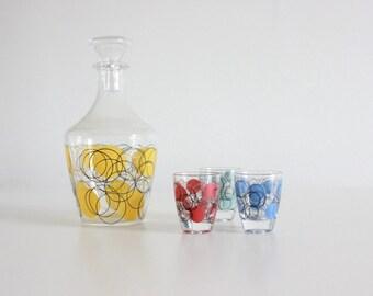 Vintage 1970s Tumbler / Drinks Set