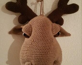 Luscious Lola - crocheted moose head