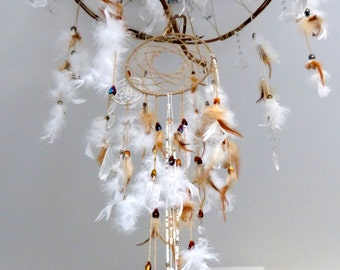Beautiful homemade lamp dream catcher