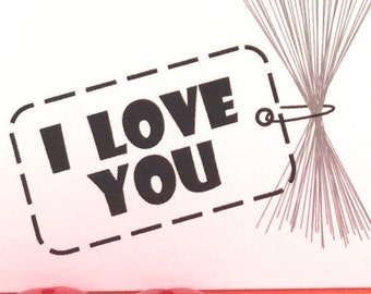 I Love You Greeting Card #LV-165