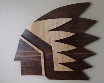 Old Fighting Sioux Wood logo