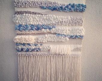 Modern weave - woven wallhanging - fiberart