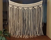 "Macrame Wall Hanging Large Bohemian Window Covering Wedding Arch Backdrop Headboard Curtain ""Devotion"""