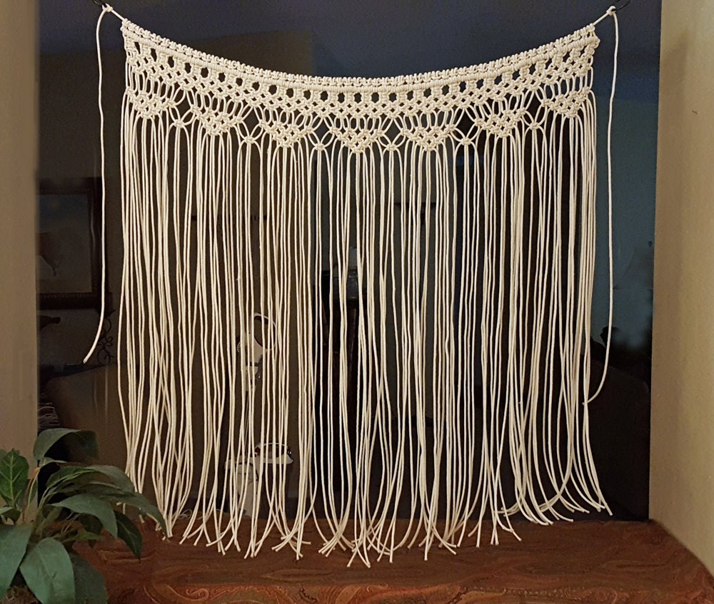 Macrame Wall Hanging Large Bohemian Window Covering Wedding
