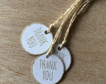 Thank You Tags | Wedding Favor Tags | Baby Shower Favor Tags | Gift Tags