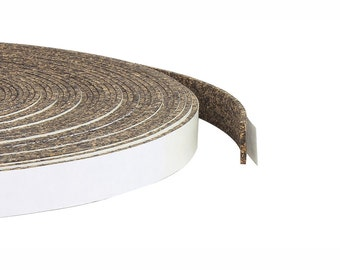"1/16"" Thick Natural Cork and Rubber Tape - 50 Feet Long, 3/8"" to 3"" Widths Available, Adhesive Backed Cork & Rubber Strips"
