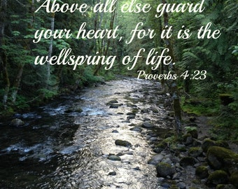 Wellspring of life, Scripture art, Landscape photography, Canvas, Wall art, Nature photography, Proverbs 4:23