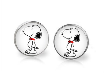 Snoopy Stud Earrings Snoopy Earrings Fandom Jewelry Cosplay Fangirl Fanboy