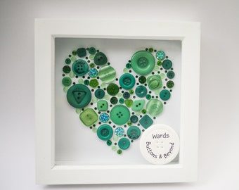 Wedding/Anniversary Personalised 20cm*20cm Framed Button Art Celebration Picture