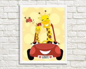 Giraffe Nursery Art Print, Animal Nursery Print, Nursery printable wall art, Nursery Decor, Baby Room wall Decor, Baby Nursery Artwork