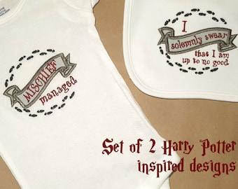 Harry Potter Inspired Marauder's Map Applique Embroidery Design File Set