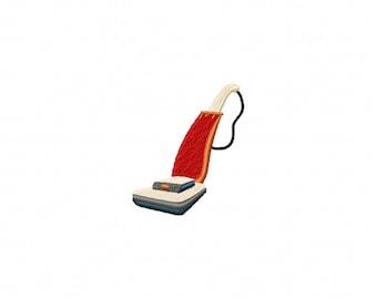 mini vacuum embroidery design, vacuum embroidery design, stitched vacuum design, cleaning embroidery design