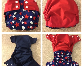 Patriotic Cloth Diaper