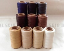 Waxed Polyester Thread for Leather Hand Sewing Beading Cord Bracelet Cord Jewelry Supplies 150D 1 Spool = 240 Meters 0.8mm Wide