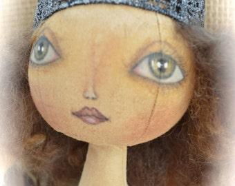 Primitive Folk Art Doll - Lady Liberty - Americana - Cheese Creek Studio Original Design