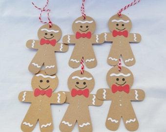 Christmas Gift Tags - Gingerbread Gift Tags - Gingerbread - Gingerbread Man - Christmas Wrapping -  Gift Tags - Christmas Ornaments