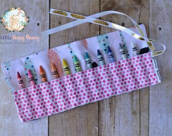 Crayon Roll Up | Crayon Roll | Crayon Holder | Toddler Activities | Back to School Supplies | Preschool Supplies