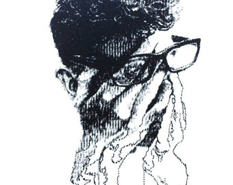 Typewriter Drawing: Dominic - Limited Edition Screen Print