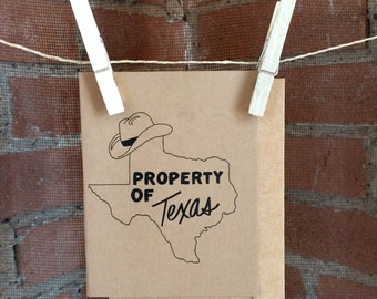 Property of Texas Greeting Card