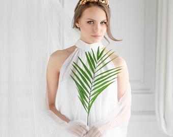 Leaf Headpiece, Gold Leaf Tiara, Bridal Tiara, Leaf Crown, bridal crown, Gold Leaf Headband, Laurel Leaf Tiara, Grecian, bohemian, gift
