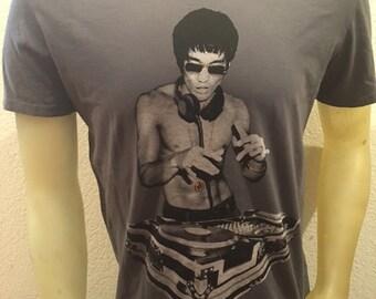 Bruce Lee DJ Avengers Heavy Metal Gray T shirt S,M,L,XL,XXL Bow & Arrow