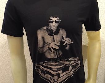 Bruce Lee DJ Black T shirt  S,M,L,XL,XXL Bow & Arrow