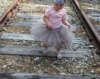 Free Shipping Grey Fluffy Tutu Skirt-Baby Tutu Skirt-infant Tutu Skirt-photo Prop