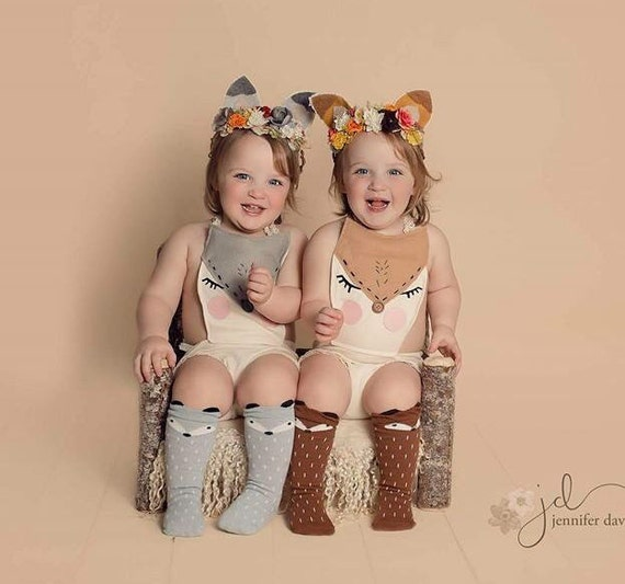 Fox Leggings, Fox Leg Warmers, Fox Socks, Baby and Toddler Socks