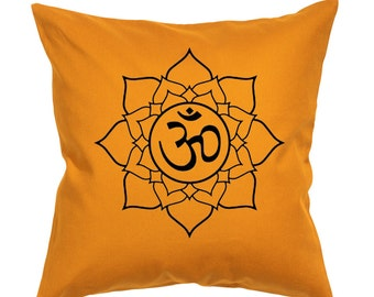 Mandala OHM-Throw Pillow- Decorative Pillow-Throw Pillow Cover