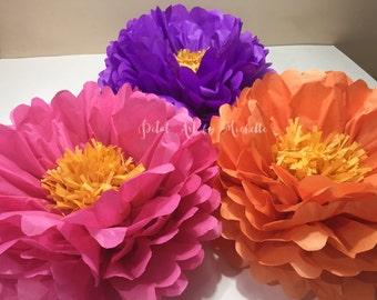 Medium Tissue Paper Flowers, Pom pom flowers, Nursery Decoration, Party Decoration, Tea Party Decoration, Birthday Decor, Bridal Shower