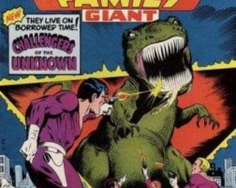 Vintage DC Comics,  Super Team Family Giant, No.8,  Bronze Comic Book, Ready To Ship,   Vintage Books,  Vintage Comics