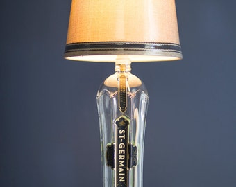 St. Germein Bottle Table Lamp Recycled shade and bulb included