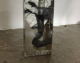 Italian Art Glass Slab Vase - circa 1960