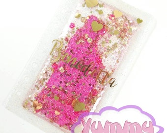 Personal Planner Liquid Glitter Dashboard with your name